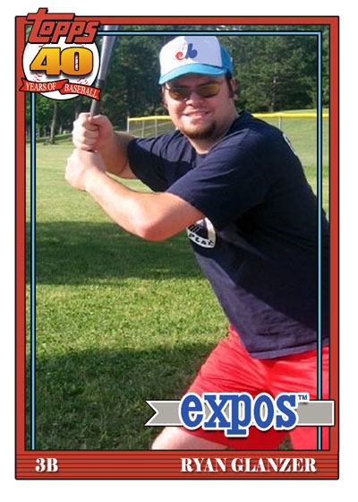 My 1991 Topps card!