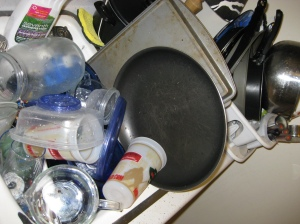 I did the dishes Tuesday night.