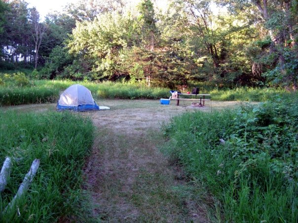 Our rustic camp site at Upper Sioux Agency State Park.