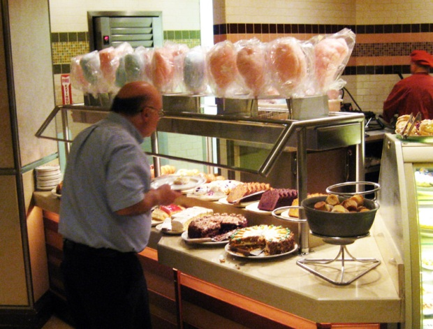 Cotton candy at breakfast buffet