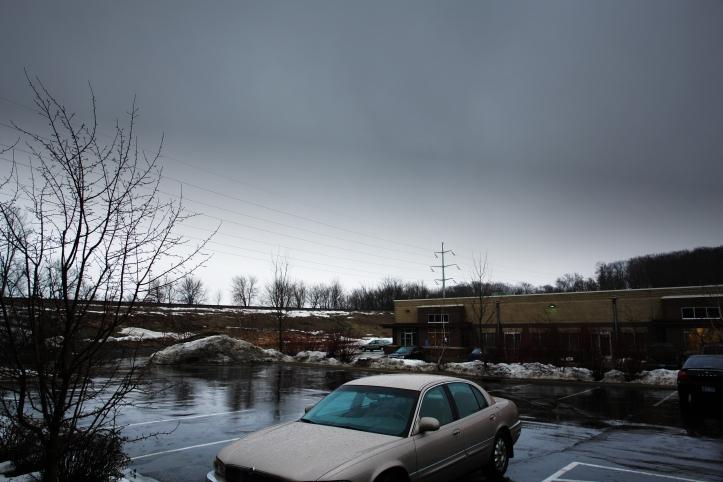 Rainy March day in Chanhassen, Minnesota