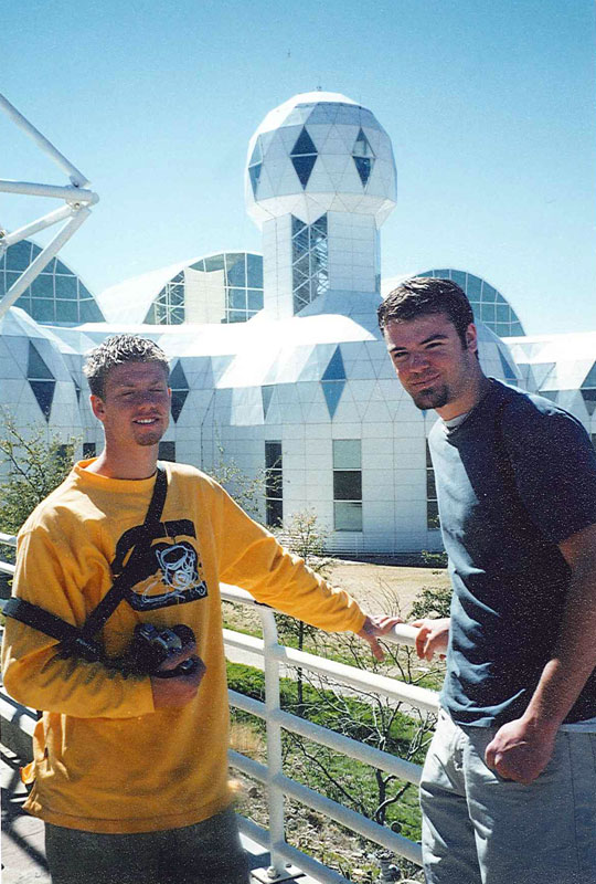 Brandon Hanson and I tour the real BioDome.