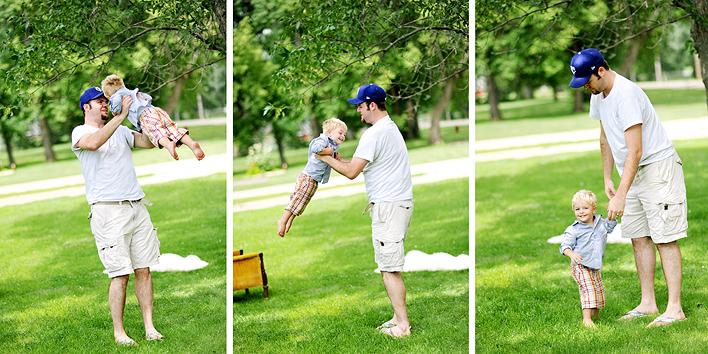 Ryan Glanzer playing with Hudson Krogman