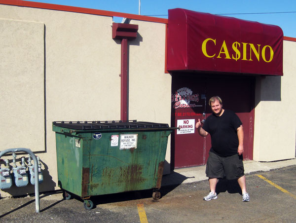 Jason plans to win big at Pierre, South Dakota's Aces and Eights Casino.