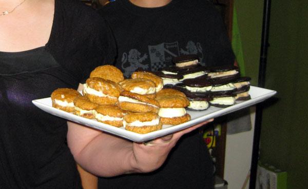 Lauren made ice cream sandwiches.