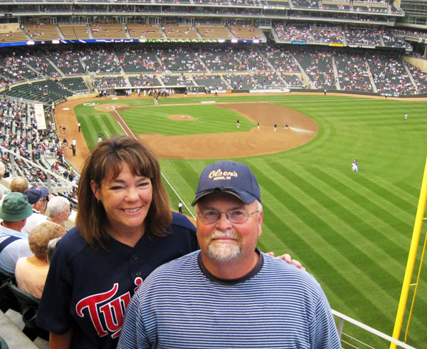 Mom and Dad at the Twins game
