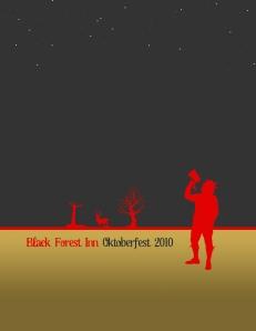 Black Forest Inn, Oktoberfest menu cover