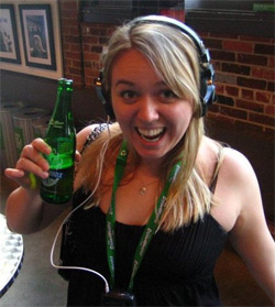 Lauren visiting the Steamwhistle Brewery in Toronto this summer