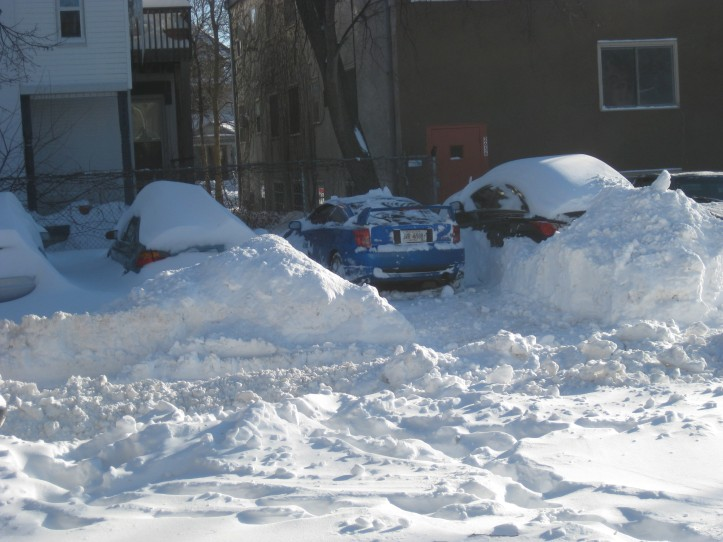 parking lot after 2010 minneapolis blizzard