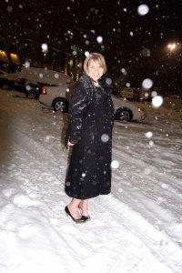 Lauren Poulter Glanzer in snow