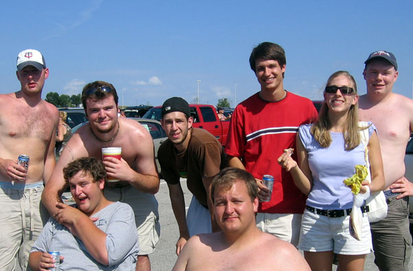 MISSOURI: The gang tailgates before a Royals game.