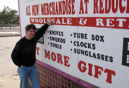 NEBRASKA: Chris at a popular Omaha thrift shop.