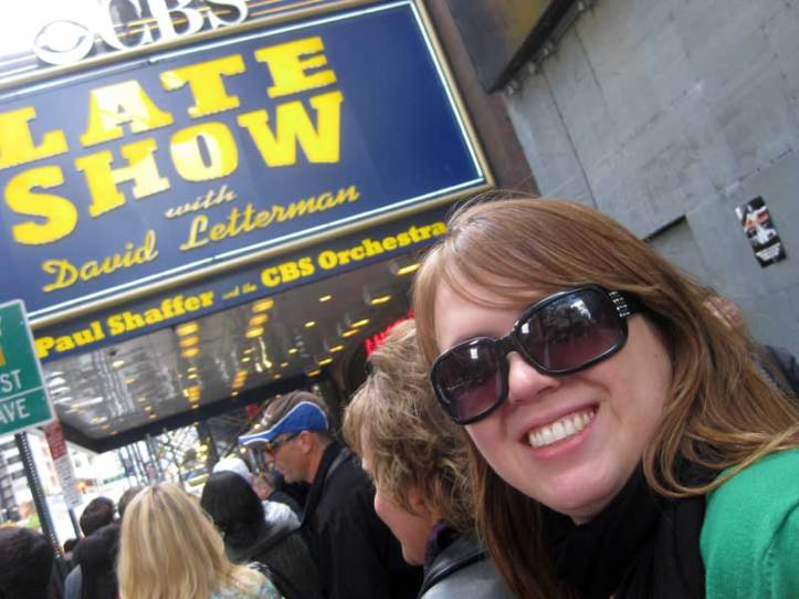 Lauren at the Late Show with David Letterman
