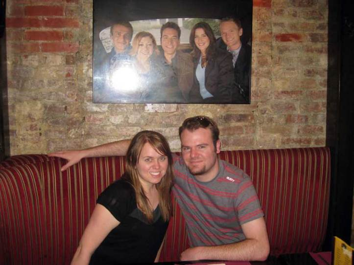 Ryan and Lauren at McGee's Bar, where How I Met Your Mother's bar was based