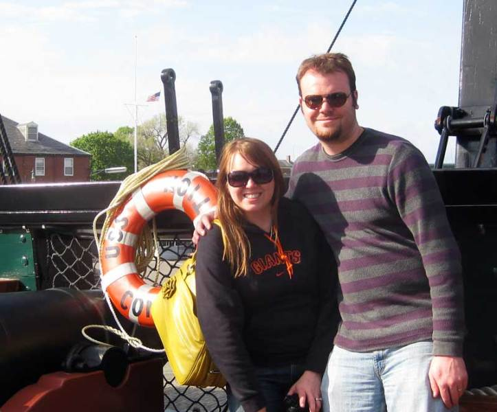 Ryan and Lauren aboard the USS Constitution