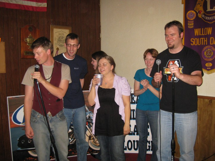 Willow Lake High School class of 2001 doing karaoke