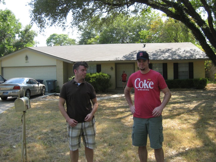 Dan Jaker and I at Coach Taylor's house (as seen on Friday Night Lights)