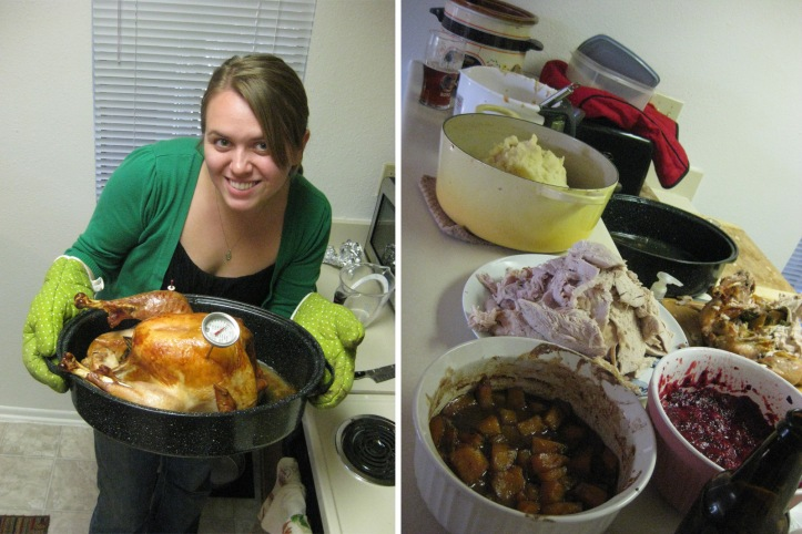 Lauren's Thanksgiving feast for two!