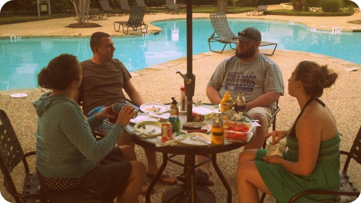 Hanging with the Bartholics on the 4th.