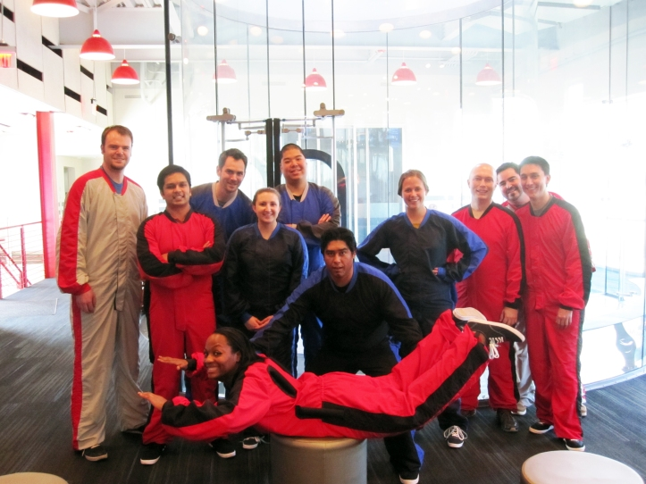 The Callaway marketing and IT team at iFly Austin.