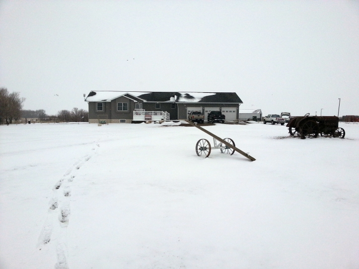 Snow in late April at the Glanzer farm.