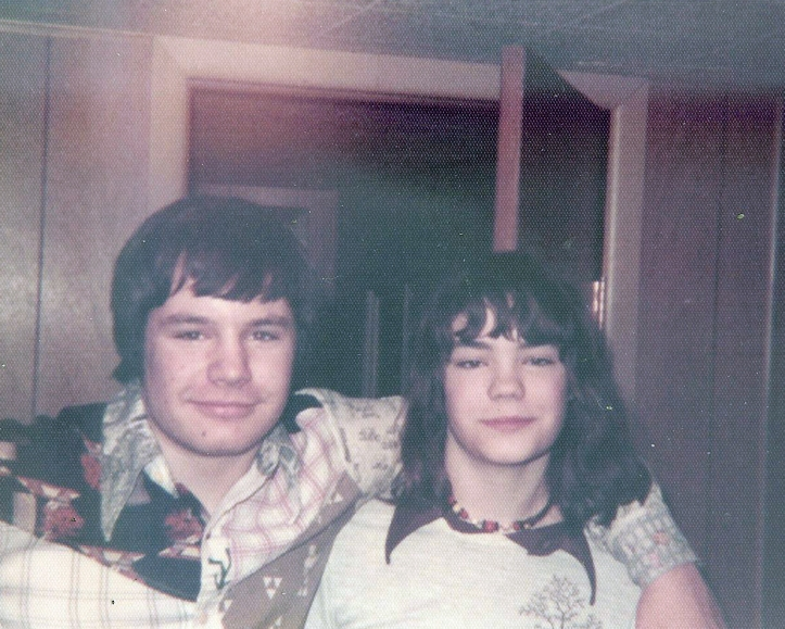 A young Marcie Bell, with brother Stuart... probably sometime in the mid 70s.