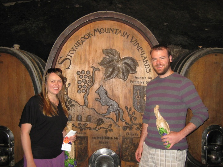 Our private tour of the Storybook Mountain winery.