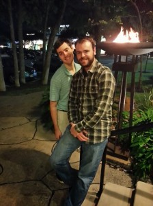 Brian Mego and I were still standing after the meal of the year at Estancia.