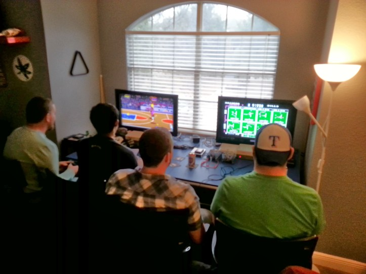 Byron, Mike, Bart, and Julio break out NBA Jam and Tecmo Bowl.