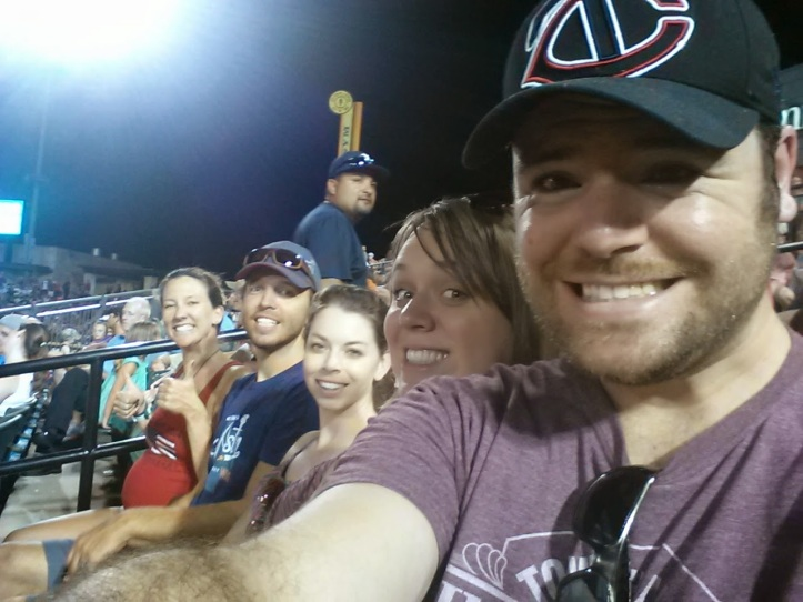 Emily, Duane, Elizabeth, Lauren, and I at the Express game Saturday.