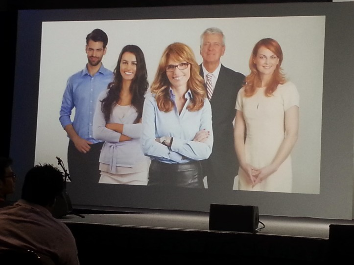 This stock image was projected on the screen at a keynote and I about lost control I was laughing so hard at the demonic looking man on the left.