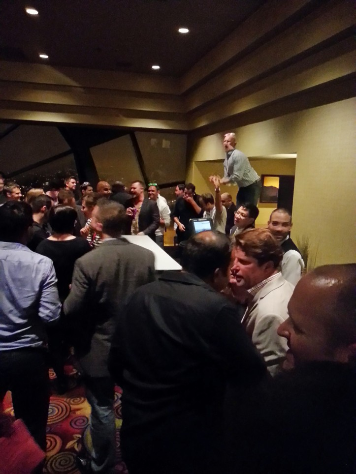 The after party at the Marquis Marriott 39th Floor got pretty crazy! This dude was crowd surfing.