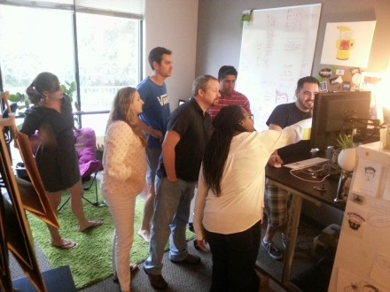 My co-workers had a heated debate as to how many TGIFriday's unlimited appetizers they could eat. Everyone gathered around Brian's computer for nutritional info.