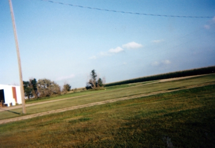 Part of the family farm, ca. 1999. And at an odd angle. I think this was from one of Alex's disposable camera projects.