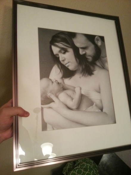 My anniversary gift to Lauren was this framed print of one of Jordan's photos from her trip.