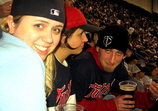 Opening Day 08 with Walsh and Sarah from the cheap, cheap seats at the Dome.
