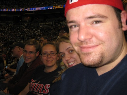 Opening Day '09 as the Twins lose to Seattle. Thanks for the tickets all these years later, Mitch!
