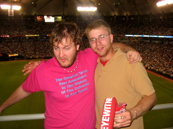Jason and Travis were on hand to see the Twins beat the Indians on Opening Day 2004.
