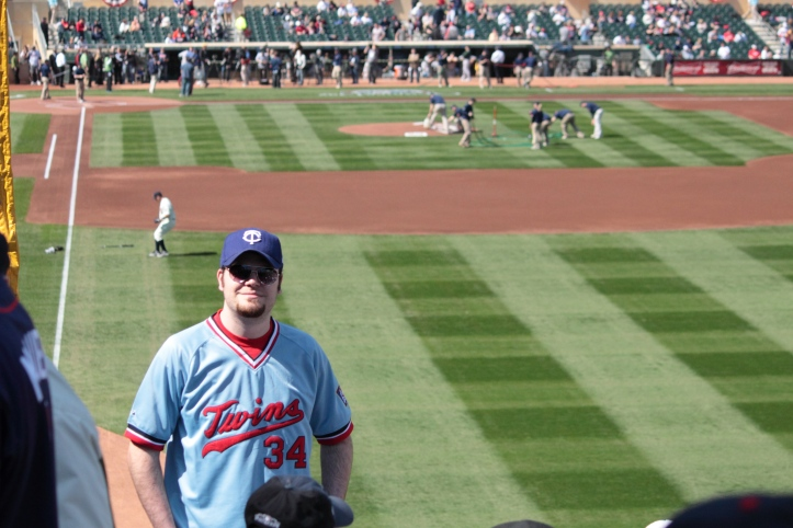 Twins home opener vs Oakland in 2011.