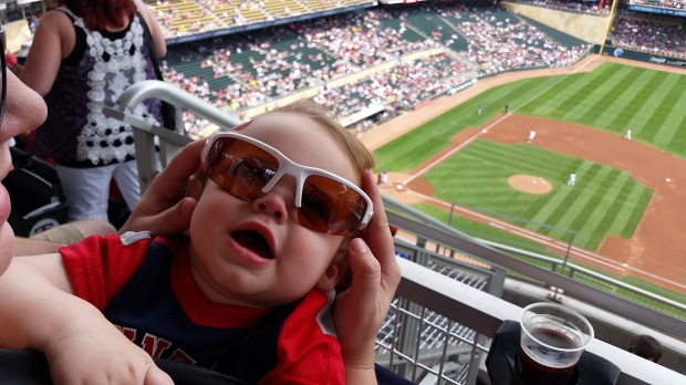 This cool dude isn't sure whether to root for his home-state Rangers or the Twins.