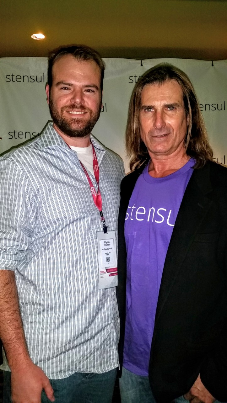 Me and Fabio at the stensul meet-and-greet happy hour.