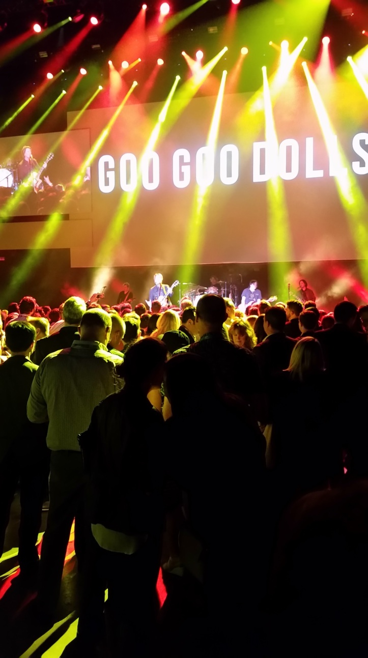 Goo Goo Dolls in concert. Great show! Probably a top-10 all-time band for me.