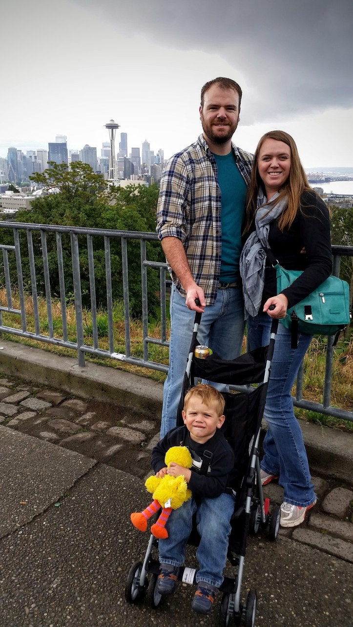 The family at Kerry Park, just down the street from our house.