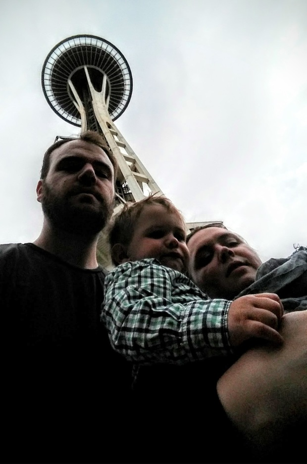 The family at the Space Needle.
