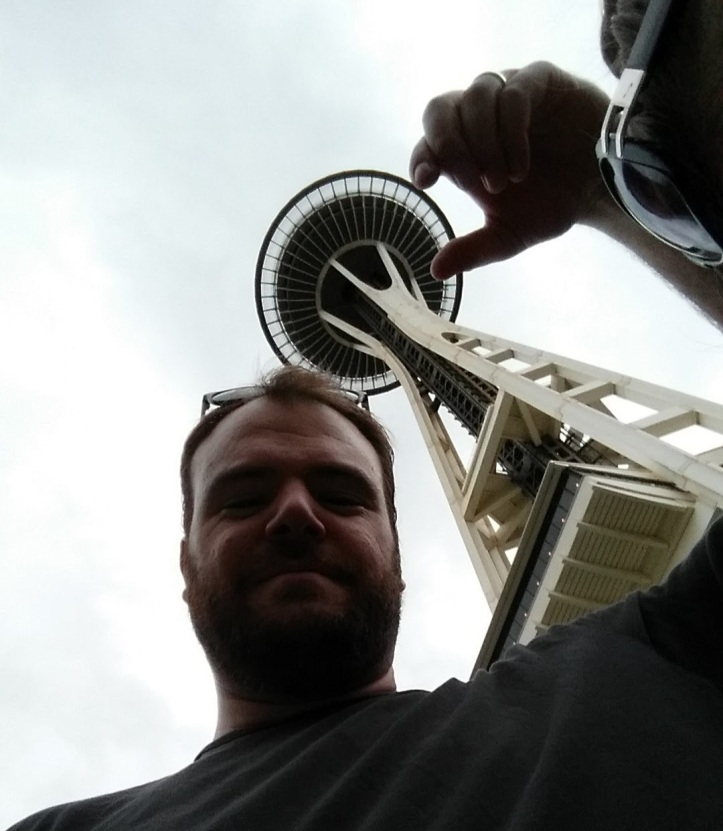 Me being dumb at the Space Needle.