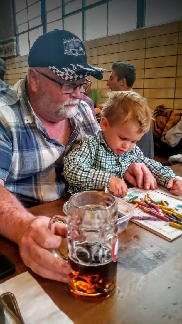 Grandpa and Johnny at the Queen Anne Beerhall.