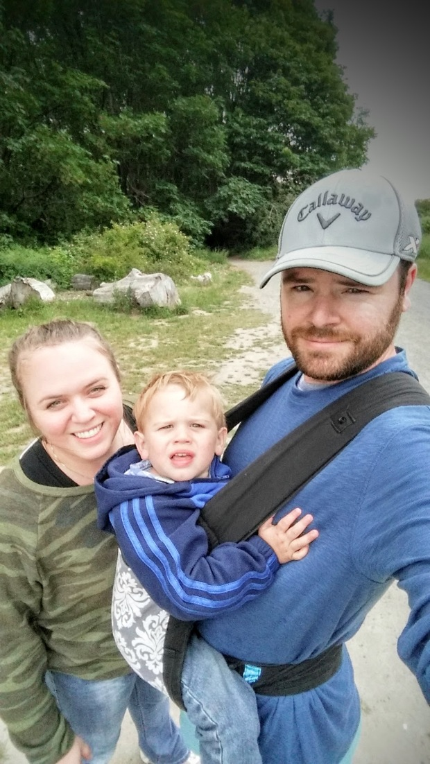The family at the halfway point of what was a grueling hike.
