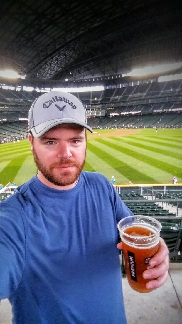My first pregame beer. Exploring a stadium for the first time is my favorite.