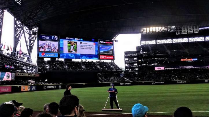 Pregame view of Safeco Field.
