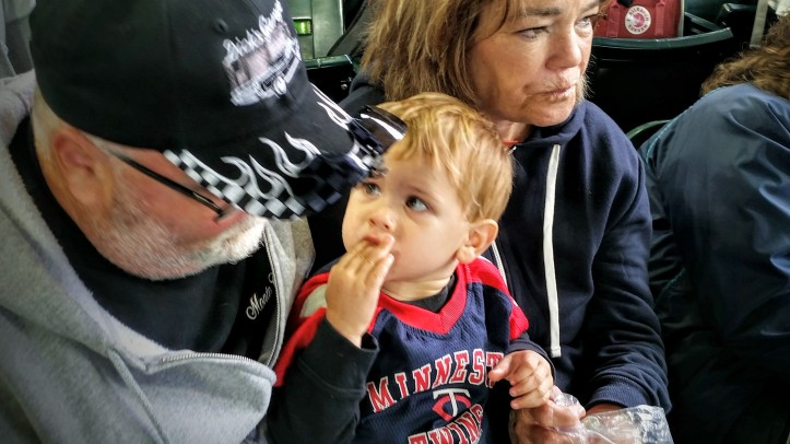 Nothing beats a ballgame with Grandpa and Grandma!
